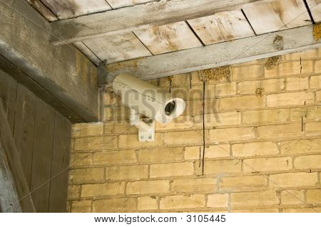 Security Camera In Rural Setting