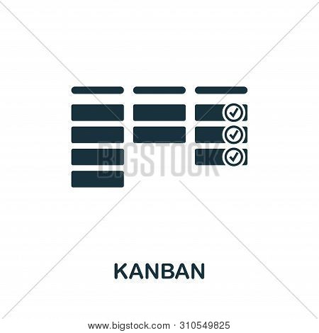 Kanban Vector Icon Symbol. Creative Sign From Agile Icons Collection. Filled Flat Kanban Icon For Co