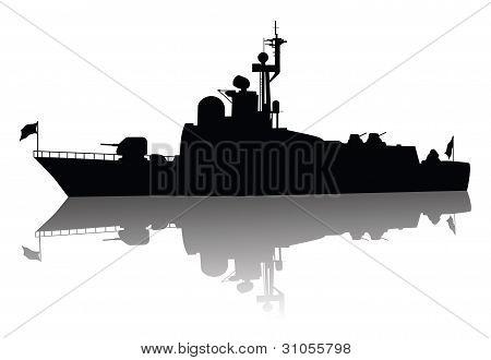 High detailed ship silhouette