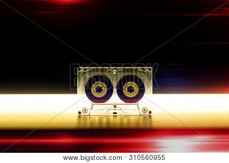Audio cassette music background wallpaper background cover 70s 80s 90s top effect rtro old vintage style modern trend melody nostalgia song music sound party dance poster