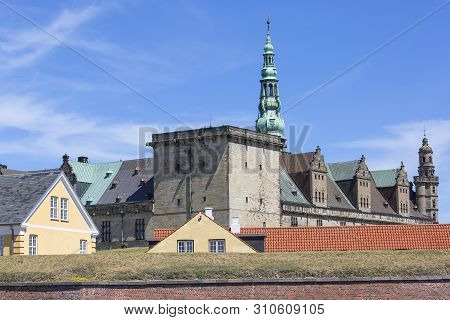 Medieval Kronborg Castle On The Oresund Strait, Baltic Sea, Helsingor, Denmark