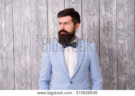 Barber Shop Offer Range Of Packages For Groom Make His Big Day Unforgettable. Guy Well Groomed Beard