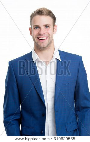 Menswear Formal Style. Guy Handsome Office Worker. White Collar Worker. Working Formal Dress Code. C