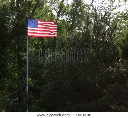 Illuminated American Flag