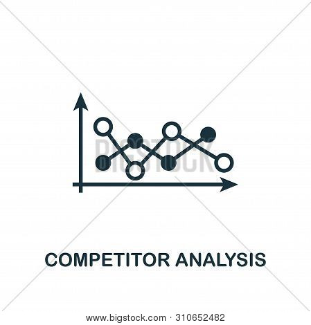 Competitor Analysis Icon. Creative Element Design From Business Strategy Icons Collection. Pixel Per