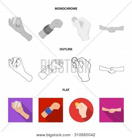 Vector Illustration Of Animated And Thumb Icon. Collection Of Animated And Gesture Stock Symbol For