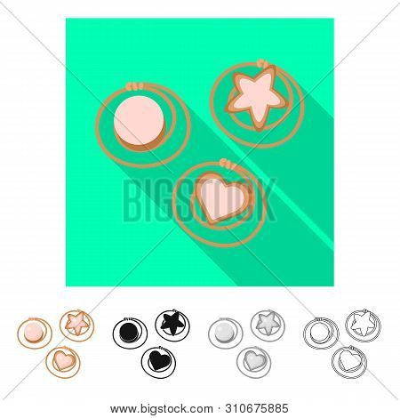 Vector Design Of Hairgrip And Hairdo Sign. Set Of Hairgrip And Clip Stock Symbol For Web.