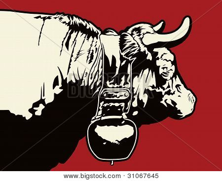 Swiss Cow Graphic.