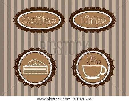 stickers to advertise coffee