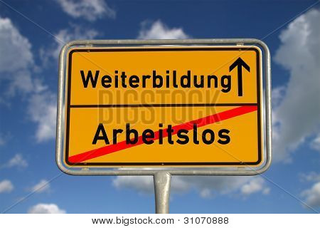 German School Sign  School And Further Education