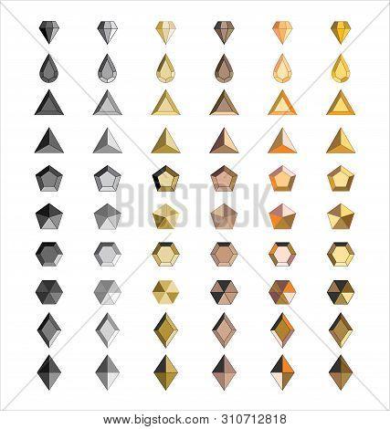 Metal Stud Fashion Design Accessories Vector Illustration