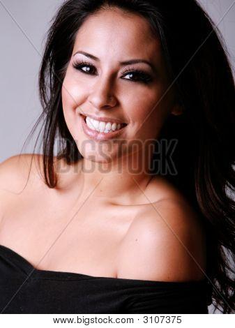 Happy Hispanic Woman
