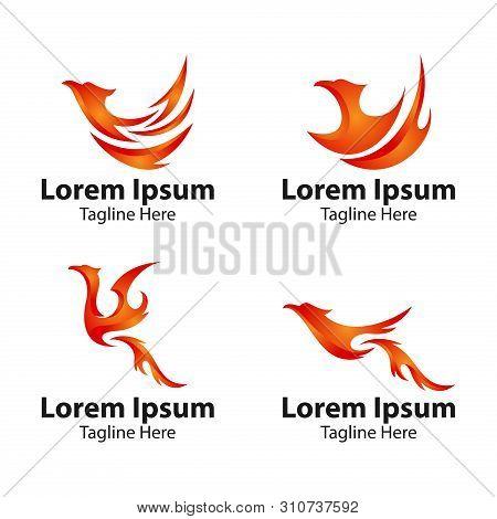 Phoenix Bird Logo Concept. Luxury Phoenix Logo, Vector Logo Bird. Creative Logo For Mythological Bir
