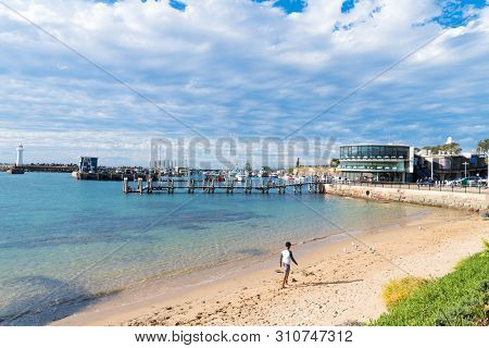 View Over Brighton Beach In Wollongong, Nsw's Third-largest City, Known For Skydiving, Art Galleries