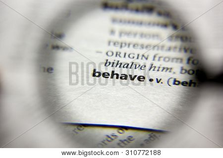 The Word Or Phrase Behave In A Dictionary