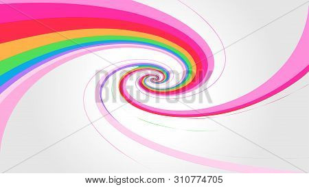 Swirl Rainbow Colors Effect On Gray Background, Modren Spiral Colors Rainbow Style, Wallpaper Swirl