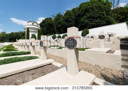 Lviv, Ukraine - 2018/07/07: Polish War Graves From Polish-ukrainian War On Cemetery Of The Defenders