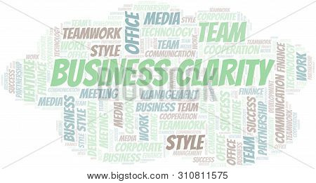 Business Clarity Word Cloud. Collage Made With Text Only.