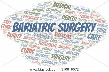 Bariatric Surgery Word Cloud Vector Made With Text Only