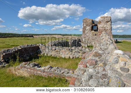 Kalo Castle Ruins At Mols Bjerge National Park On Djursland, Denmark