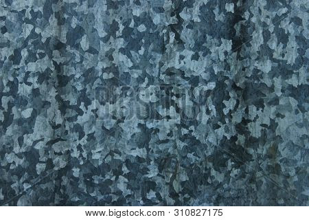 Grungy Gray Concrete Wall Texture Background. Steel Texture. Gray Metal Spotty Wall Abstract Backgro
