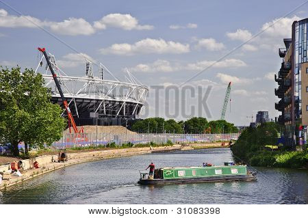 London - May 24; London 2012 Stadium Nears Completion In Stratford London, May 24 2011
