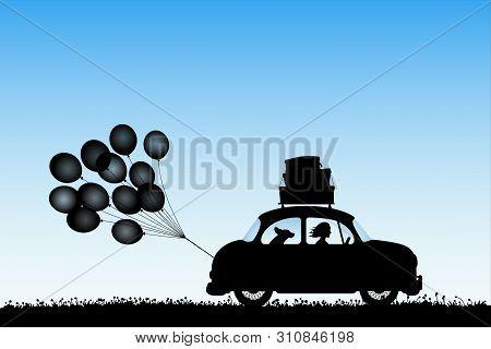 Cartoon Retro Car On Vector Photo Free Trial Bigstock