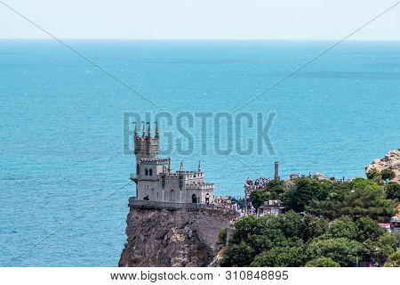 The Well-known Castle Swallow's Nest Near Yalta. Crimea.