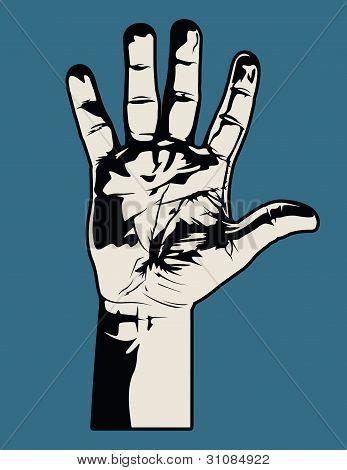 Open Hand Graphic
