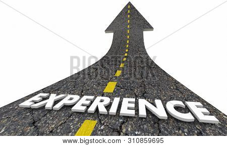 Experience Expertise Professional Road Arrow 3d Illustration