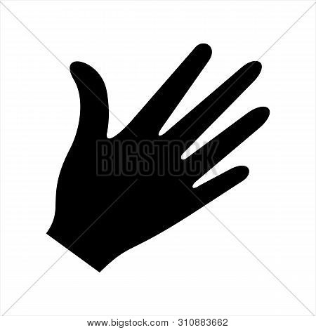 Hand Icon Vector Isolated On White Background, Hand Icon Vector Design,  Hand Image, Hand Icon Illus