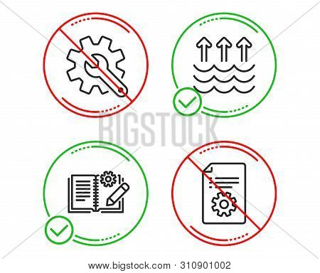 Do Or Stop. Customisation, Evaporation And Engineering Documentation Icons Simple Set. Technical Doc