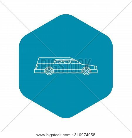 Hearse Icon. Outline Illustration Of Hearse Icon For Web