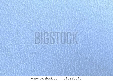 Light Blue Leather Texture Closeup, Useful As Background
