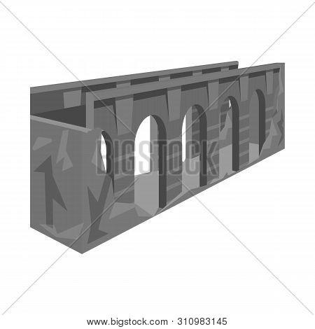 Vector Design Of Bridge And Relocation Icon. Set Of Bridge And Column Stock Vector Illustration.