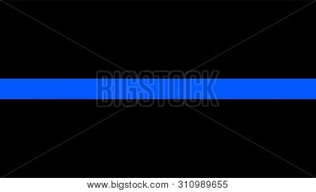 Thin Blue Line Flag - A Sign To Honor And Respect Police, Army And Military Officers
