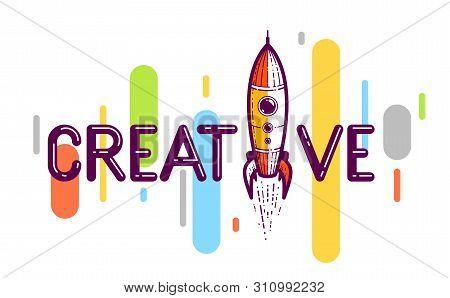 Creative Word Rocket Vector Photo Free Trial Bigstock