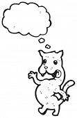 cartoon cat with thought cloud poster