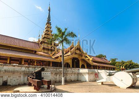 Mandalay Palace Of Mandalay Located At Myanmar Burma