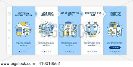 Tips For Cleaning Apartment Onboarding Vector Template. Leaving Favourite And Useful Items. Responsi
