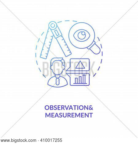 Observations And Measurements Concept Icon. Unit Of Analysis And Observation Idea Thin Line Illustra