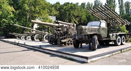 Odessa, Ukraine - June 24, 2019: This Is The Famous Katyusha Rocket Launcher And Guns Used In World