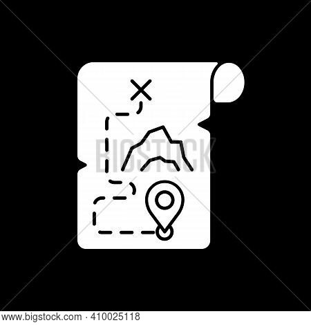 Adventure Film Dark Mode Glyph Icon. Popular Movie Genre, Filmmaking Category. Television Entertainm