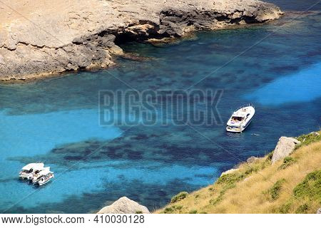 Cabo Formentor, Majorca / Spain - August 25, 2016: A Little Bay View From Cabo Formentor And Mirador