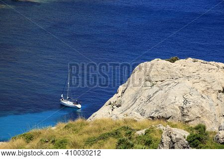 Cabo Formentor, Majorca / Spain - August 25, 2016: A Bay View From Cabo Formentor And Mirador D'es C
