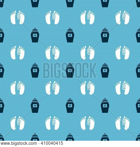 Set Funeral Urn And Dead Body On Seamless Pattern. Vector