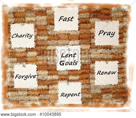 A Posting Of Goals To Achieve In Lent