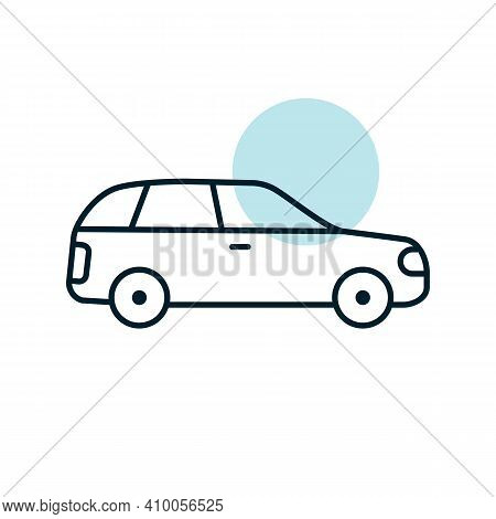 Station Wagon Flat Vector Icon. Graph Symbol For Travel And Tourism Web Site And Apps Design, Logo,