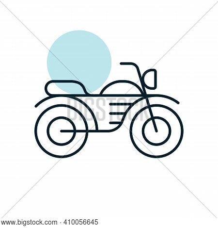 Motorcycle Flat Vector Icon. Graph Symbol For Travel And Tourism Web Site And Apps Design, Logo, App