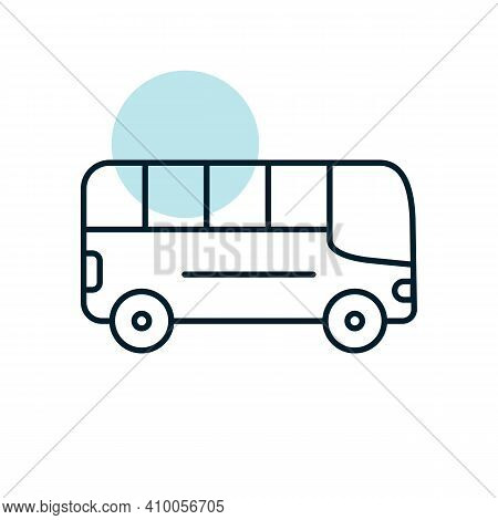 City Bus Flat Vector Icon. Graph Symbol For Travel And Tourism Web Site And Apps Design, Logo, App,
